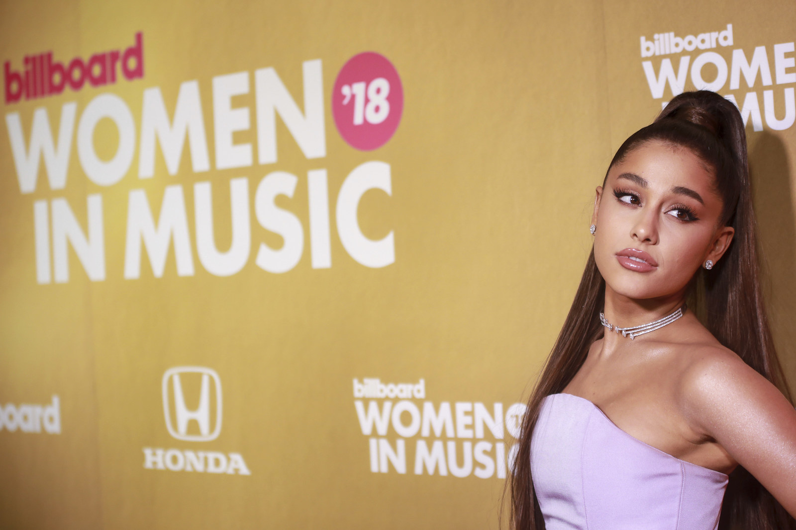 Grande at the Billboard 2018 Women in Music event in December.