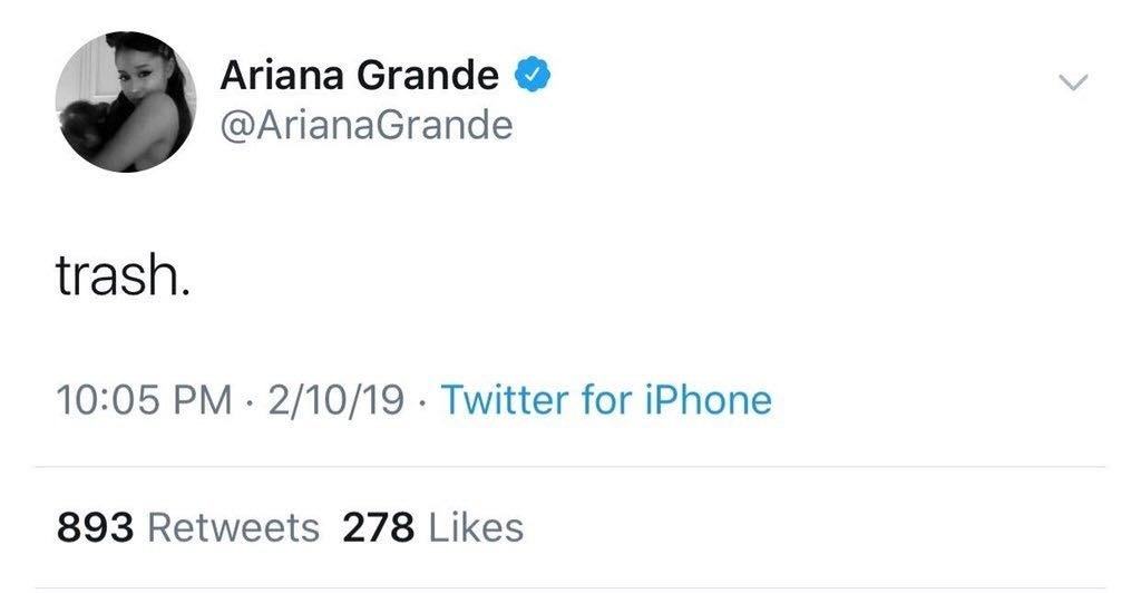 Ariana, who dated Mac Miller, immediately tweeted these three tweets, which have now been deleted
