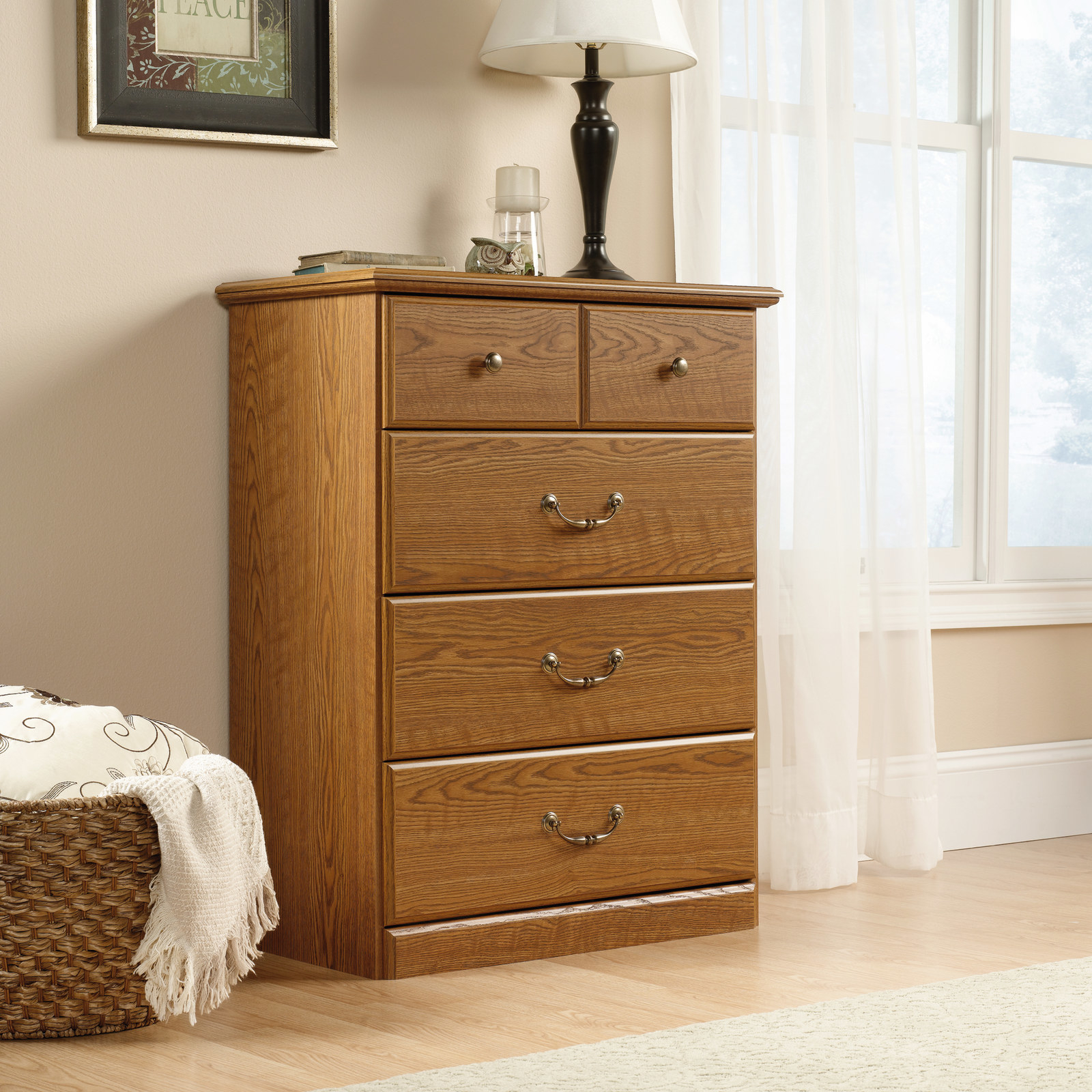 """Promising review: """"Hey... it's a chest of drawers, right? Yes it is, but I've put a lot of DIY products together over the years and as for 'strength by design' this product tops everything else I've built over the years. Exterior finish is very nice and I would recommend this to anyone looking for an affordable, well designed product, that looks as good as it's built. Oh heck, while you're at it buy two, you won't be disappointed!"""" —JimPrice: $149.99"""