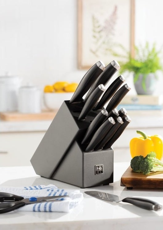 """Promising review: """"I am incredibly happy with this purchase. The knives slice through everything effortlessly, and the design is beautiful. Highly recommend!"""" —AmandaPrice: $84.45 (originally $309)"""