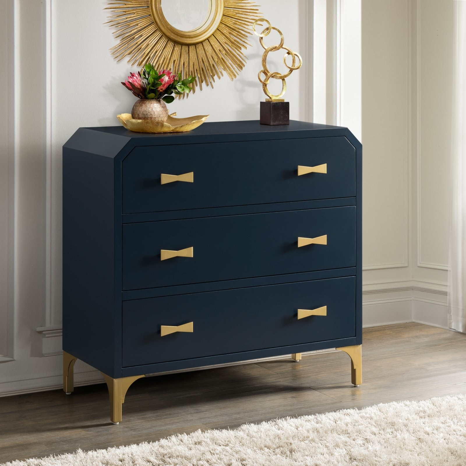 """Promising review: """"SO happy with this purchase!! This dresser is so pretty! It took some time to get it out of the box but it was completely put together except for the legs. The color is gorgeous!"""" —JillinTexasPrice: $298.70"""
