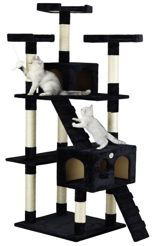 """Promising review: """"Absolutely awesome!! Cats love it! As soon as I built it they went straight to the top! Excellent quality and easy to put together!"""" —AarikaPrice: $68.99 (originally $229, available in six colors)"""