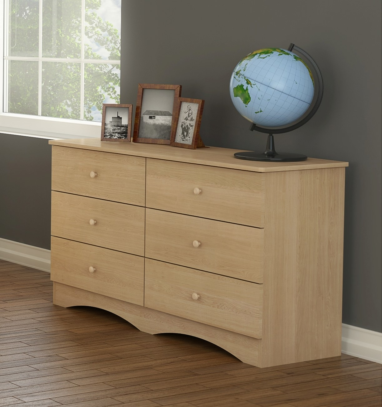 """Promising review: """"Had a unique space requirement and this met it. Dresser is for my 89-year-old mother. It has easy drawers for her to open, they roll right out. Since the price was low, I was afraid it would be cheaply made but it wasn't."""" —LovingSonandDaughterPrice: $214.59"""