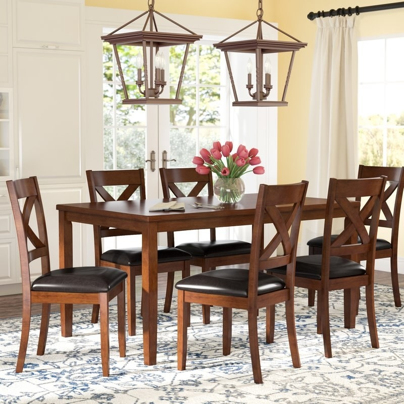 """Promising review: """"This is a really nice dinning set. I was very pleased with the quality construction and sturdiness of the table and chairs. Assembly was really easy, too. I am very happy with my purchase."""" —MichaelPrice: $525.10 (originally $1,224)"""