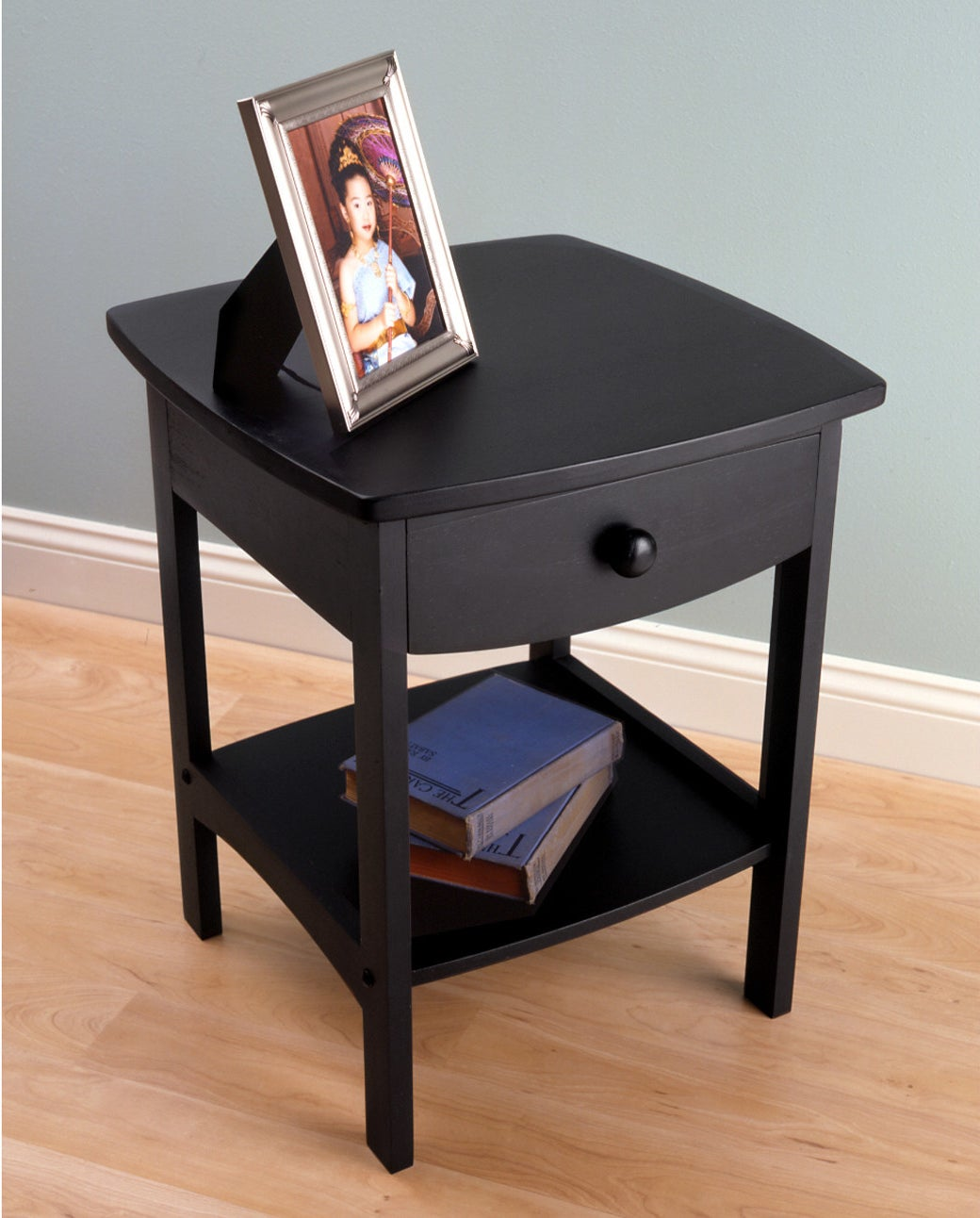 """Promising review: """"These were just what I was looking for. I wanted a square table with rounded edges so if kiddos bump into it, it's not a sharp corner. I love that these are real wood and you can tell because they're heavy. Very easy to put together, just the right height and size. They do not look cheap like particle board tables sometimes do."""" —jbiersPrice: $36.62+ (available in four colors)"""