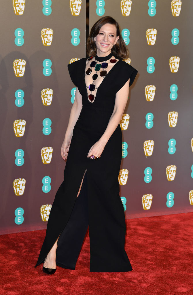 So, this is what actor Cate Blanchett wore to the BAFTAs on Sunday.