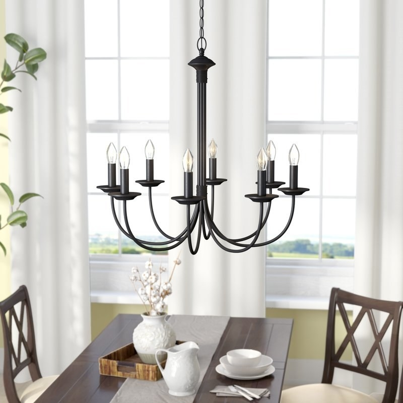 """Promising review: """"LOVE this chandelier so much! It is exactly what I was looking for to go with my farmhouse look. It was shipped quickly, arrived in great working order and looks fantastic!"""" —OnnaPrice: $70.09 ($305.85, available in two finishes)"""