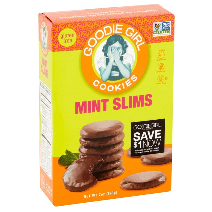 """Promising review: """"I have longed for a thin mint cookie but alas the Girl Scout's don't make a gluten-free version. Well, the Goodie Girl did! I bought six boxes and they are in the freezer! They taste the the same and I enjoy them."""" —TwiggyPrice: $3.94"""