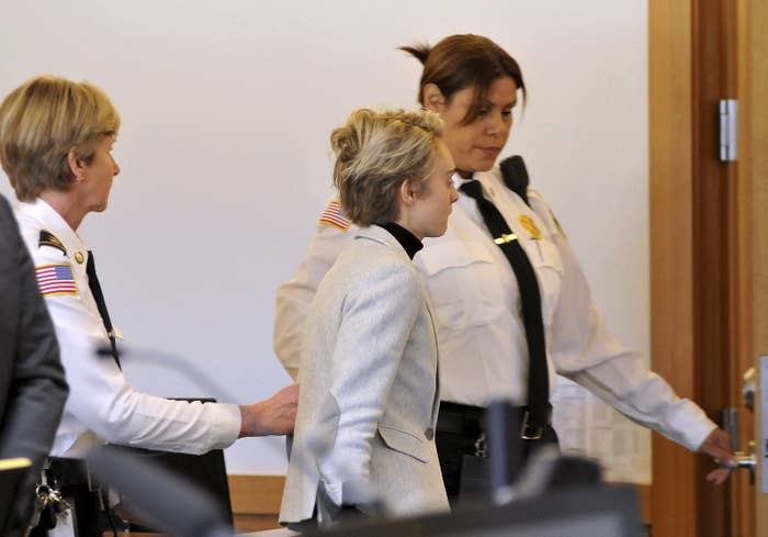 Michelle Carter being led by court officers on Feb. 11.