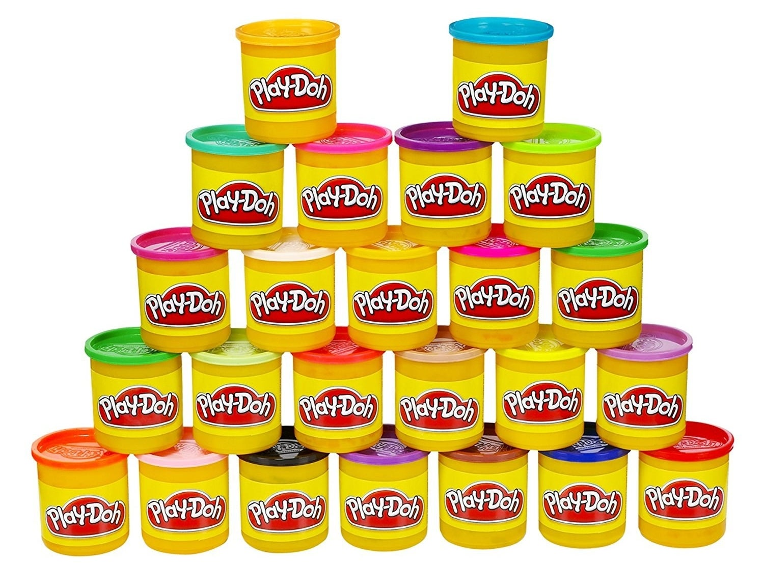 "Promising review: ""I swear that Play-Doh has gotten better since I was a kid. This stuff is practically mess-free. It doesn't stick to anything and when any stray little crumbs dry up in a few hours, they are easy to sweep or vacuum away. When pulling old Play-Doh out of a toy with a popsicle stick, the whole thing pops right out and doesn't leave sticky residue inside of small areas. I use toothpicks and fingernail tools to get it out of any small crevice areas, comes right out! This also doesn't stain or leave oily residue! I LOVE Play-Doh because two or three colors can entertain my EXTREMELY busy toddler for sometimes up to 45 minutes! That's 45 whole minutes where I'm not chasing a small child around the house. Sometimes I'm even able to make an important phone call or clean something! It's well worth the money, especially in rainy and cold climates where toddlers can't always get outside"" —Van & Heidi Price: $19.40 (for a 24-pack)"