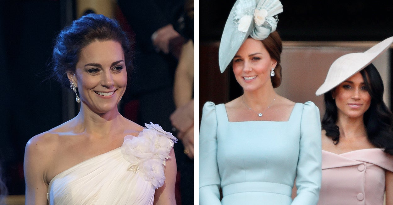 Here's Why These Pictures Of Kate Middleton And Meghan Markle Have Started A Double Standards Debate