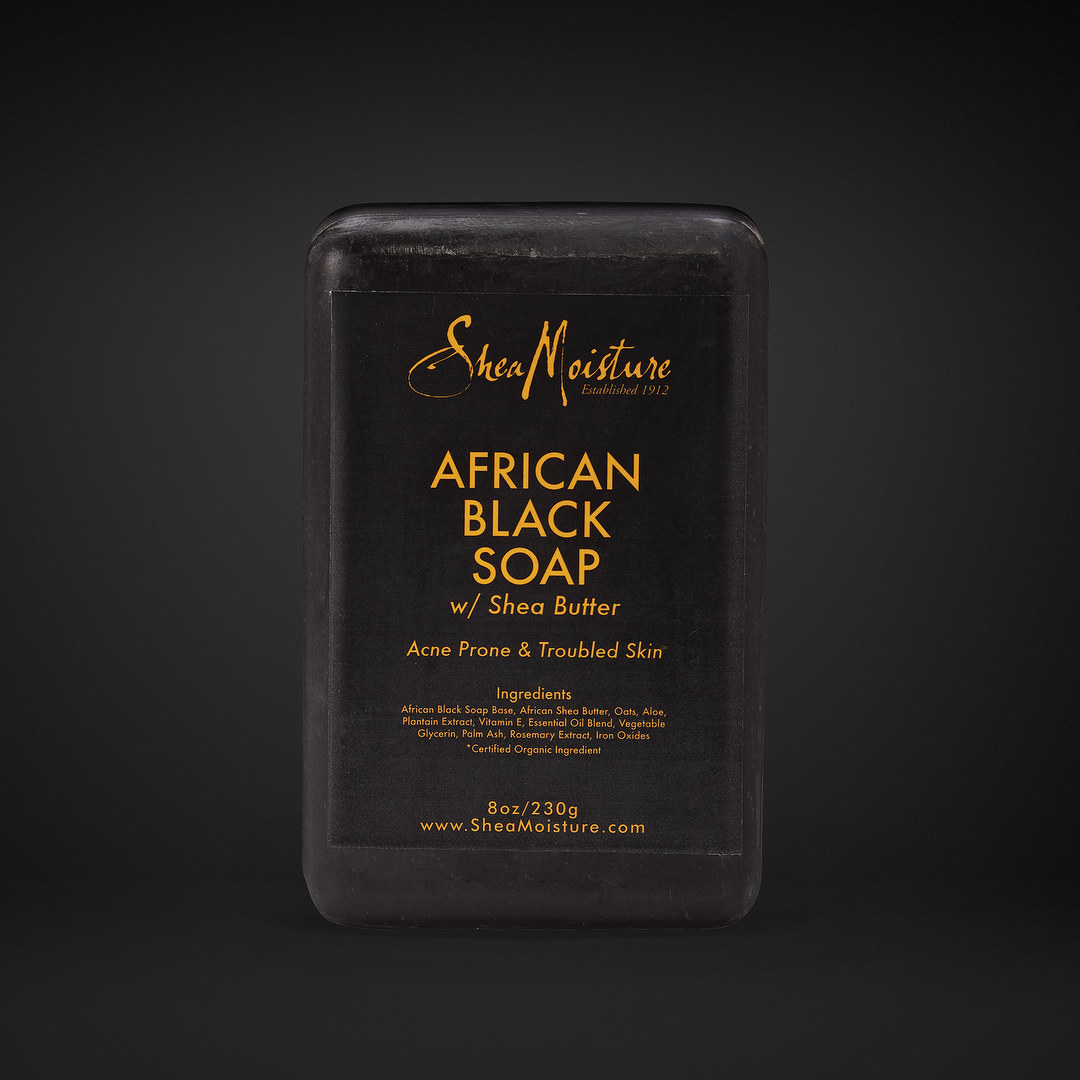 The bar of black soap