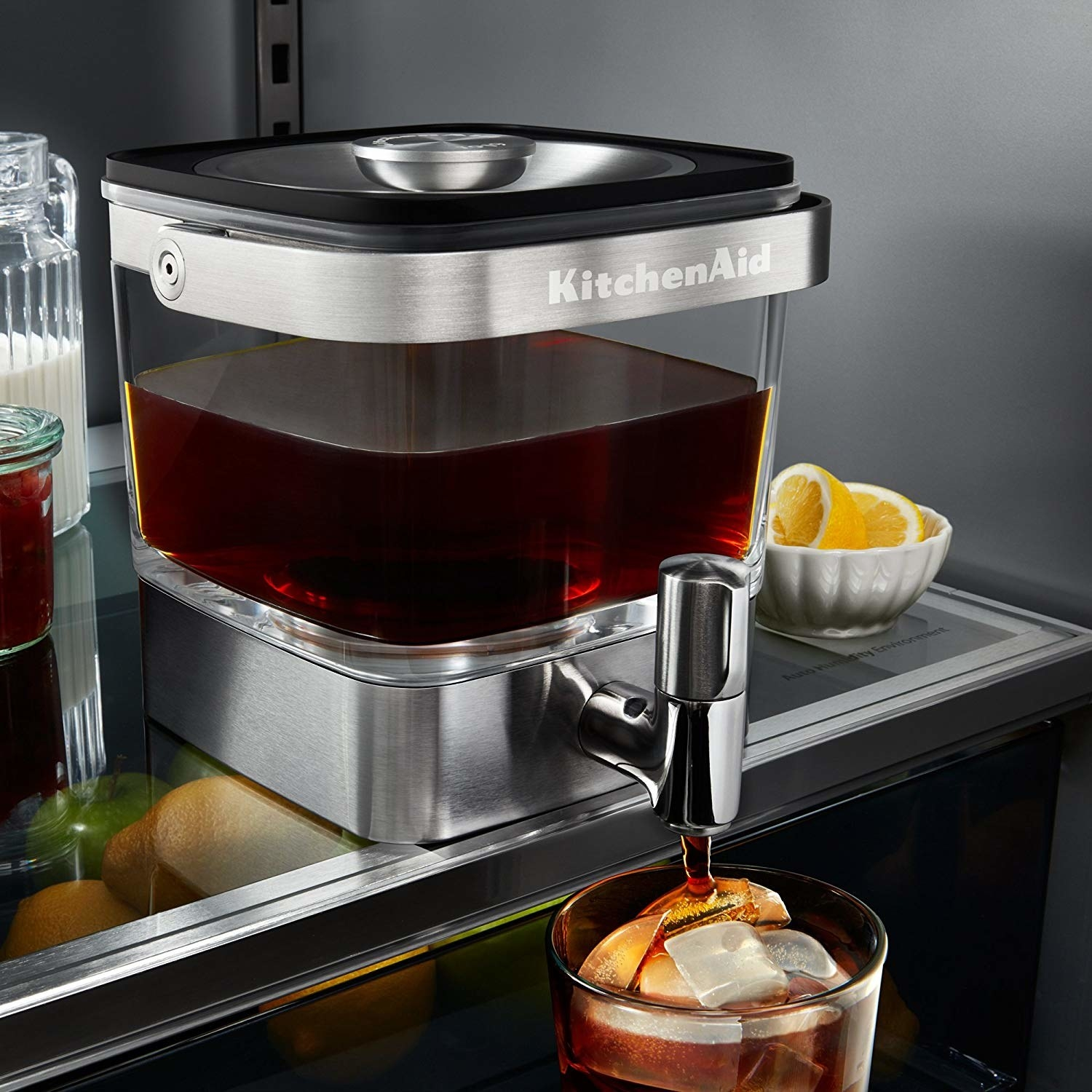"Promising review: ""I love this coffee maker. It's so easy to clean and stores in the fridge with easy access. The spout does not leak, which is pretty awesome too. The coffee basket is large, allowing you to cold brew both coffee or specialty teas. Highly recommend if you are considering a cold brew coffee maker. We had a pitcher styled one and you can't compare!"" —Angie Price: $74.88"