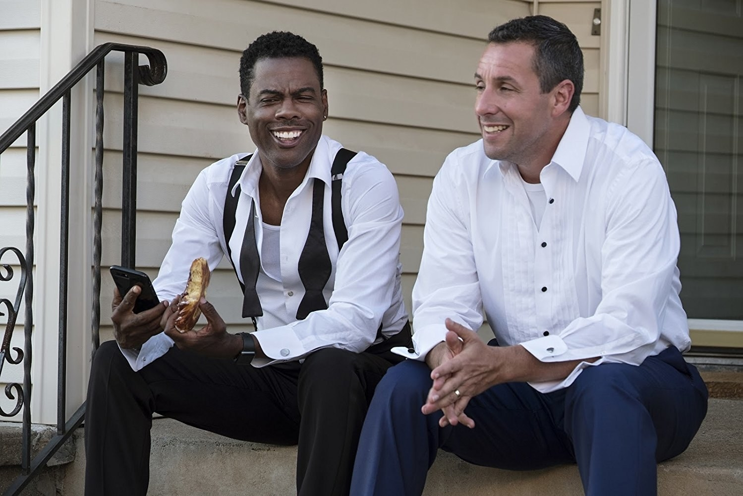 The Week Of  -  A wedding movie with both Chris Rock and Adam Sandler shouldn't need any more reasons to tune in, but we've got you. The premise:  Both actors play the opposing fathers of the couple who's getting married in the movie, and of course, they hilariously do NOT get along.