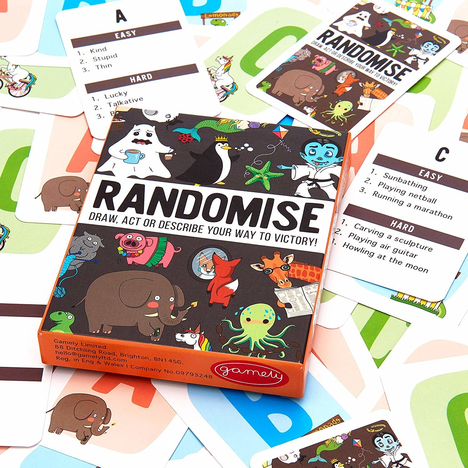 """...which is one of the many options you can pick up. This game has easy and hard modes on each card, adorable illustrations, and guarantees endless hours of fun. Promising review: """"I bought this to play with my family on New Year's Eve and OMG, it was so much fun! We had such a good time playing and trying to guess what the other person was trying to draw, act, or describe. Lots of laughs and happiness! I just regret not buying it sooner."""" —BunnyGet it from Amazon for $14.99."""