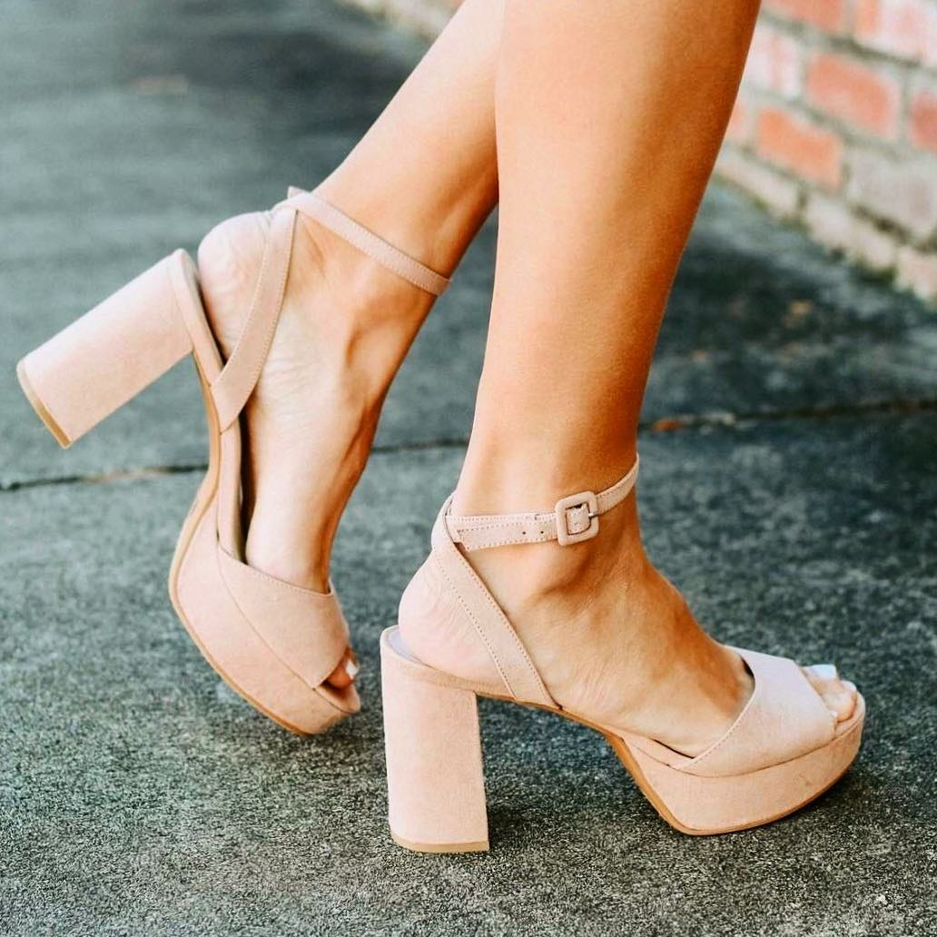 """Promising review: """"I bought these heels for a wedding and I was able to dance all night without feeling any pain in my feet! The platform balances the high heel really nicely."""" —Sandra AltGet them from Amazon for $31.48+ (available in sizes 5-11 and in 14 colors)."""
