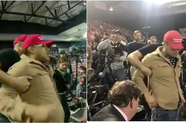 "A Trump Supporter Shoved Journalists And Shouted ""Fuck The Media"" At The President's Texas Rally"