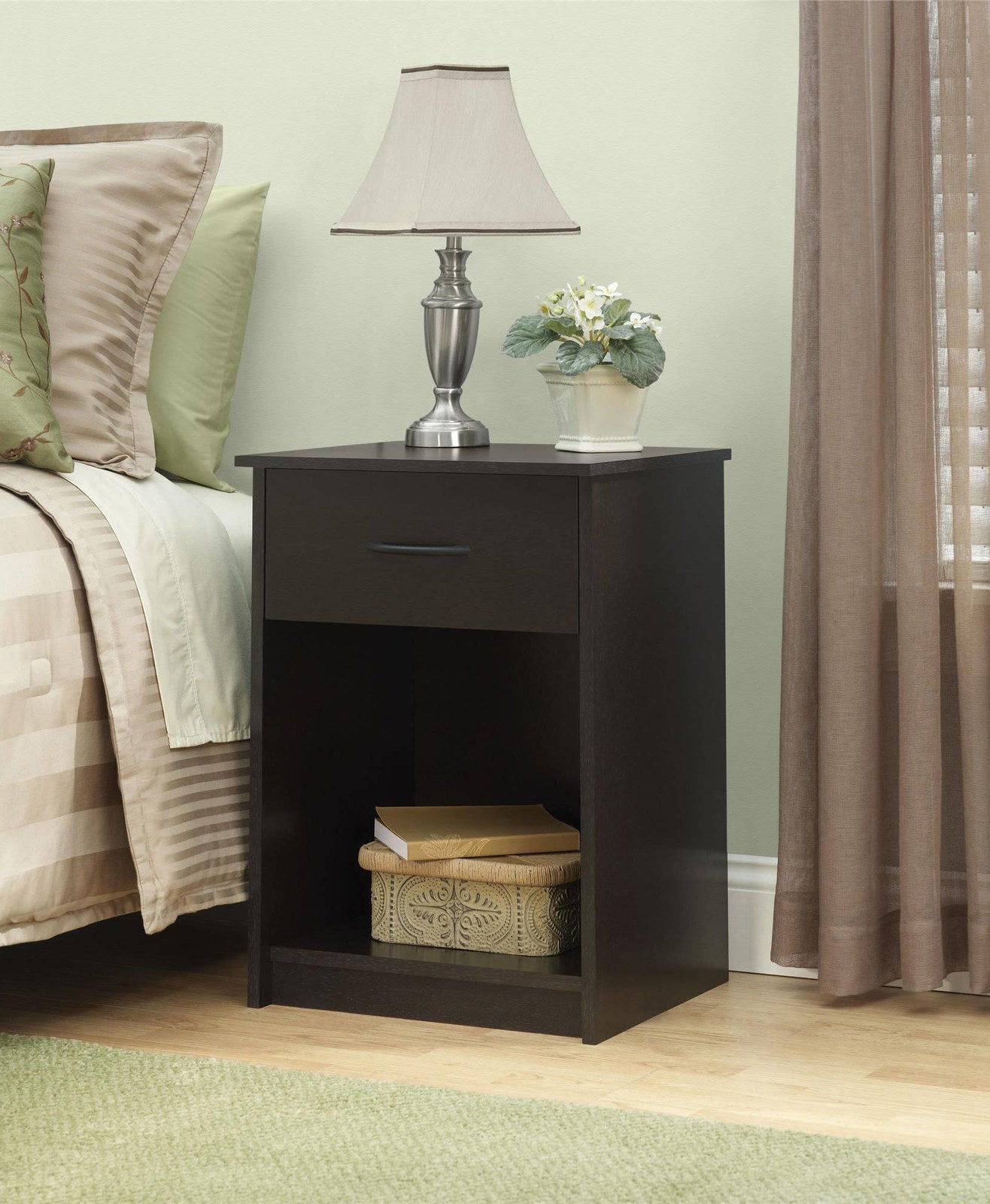 """Promising review: """"This is the best deal out there! If you are looking for function and quality at a low price, this is a great deal. Takes about an hour to assemble and is very sturdy. I can see this nightstand lasting for a long time!"""" —EmilybbPrice: $36.99 (available in four colors)"""