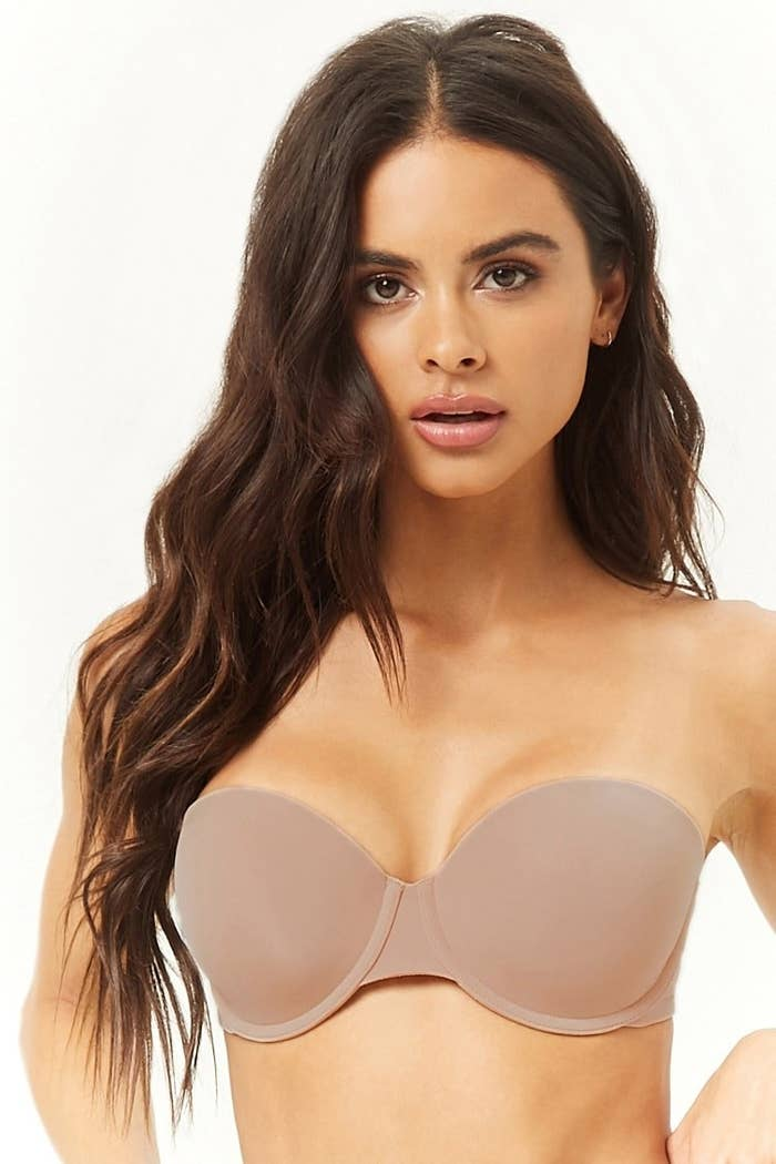 45099f0b0faa6 A microfiber strapless bra that s lightly padded for essential everyday  support.