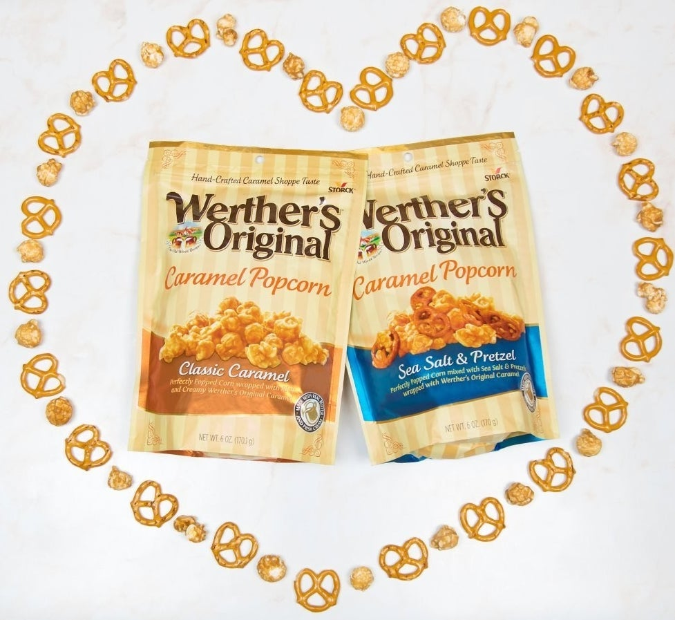 """This popcorn comes in a resealable bag (how thoughtful), although it's highly likely that you'll finish it in one sitting. ALSO! It's available in a delicious sea salt and pretzel flavor that is making my mouth water just thinking about it. Promising review: """"This is THE BEST caramel corn I've ever had. If the house gets very quiet at night, my family knows they can find me blissfully curled up in my chair with this glorious bag of goodness while watching a favorite TV program. I have ordered this popcorn many times now and each bag is as good, if not better, than the last. Always fresh and oh so scrumptious!"""" —MickeylynGet it from Amazon for $2.98 (available in two flavors)."""