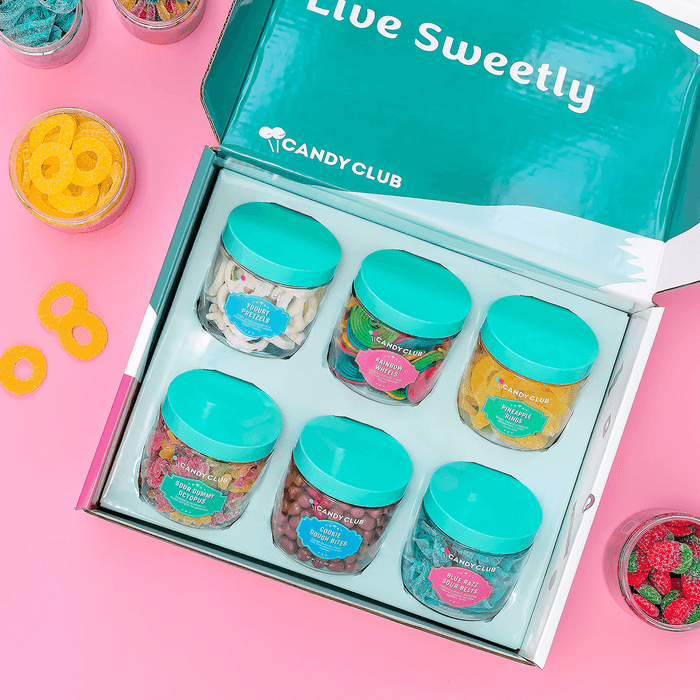 What you get: Each box comes with three containers of sweets plus some loose candy. They have a ton of options, making it a better choice than your grocery store's check-out aisle. Price: $29.99+/month