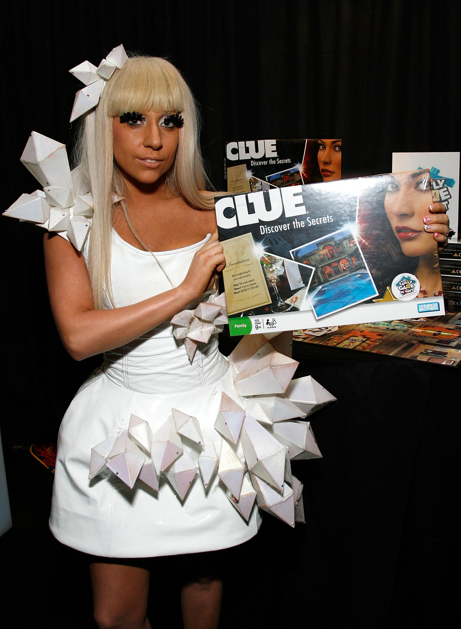 Lady Gaga and the game Clue.