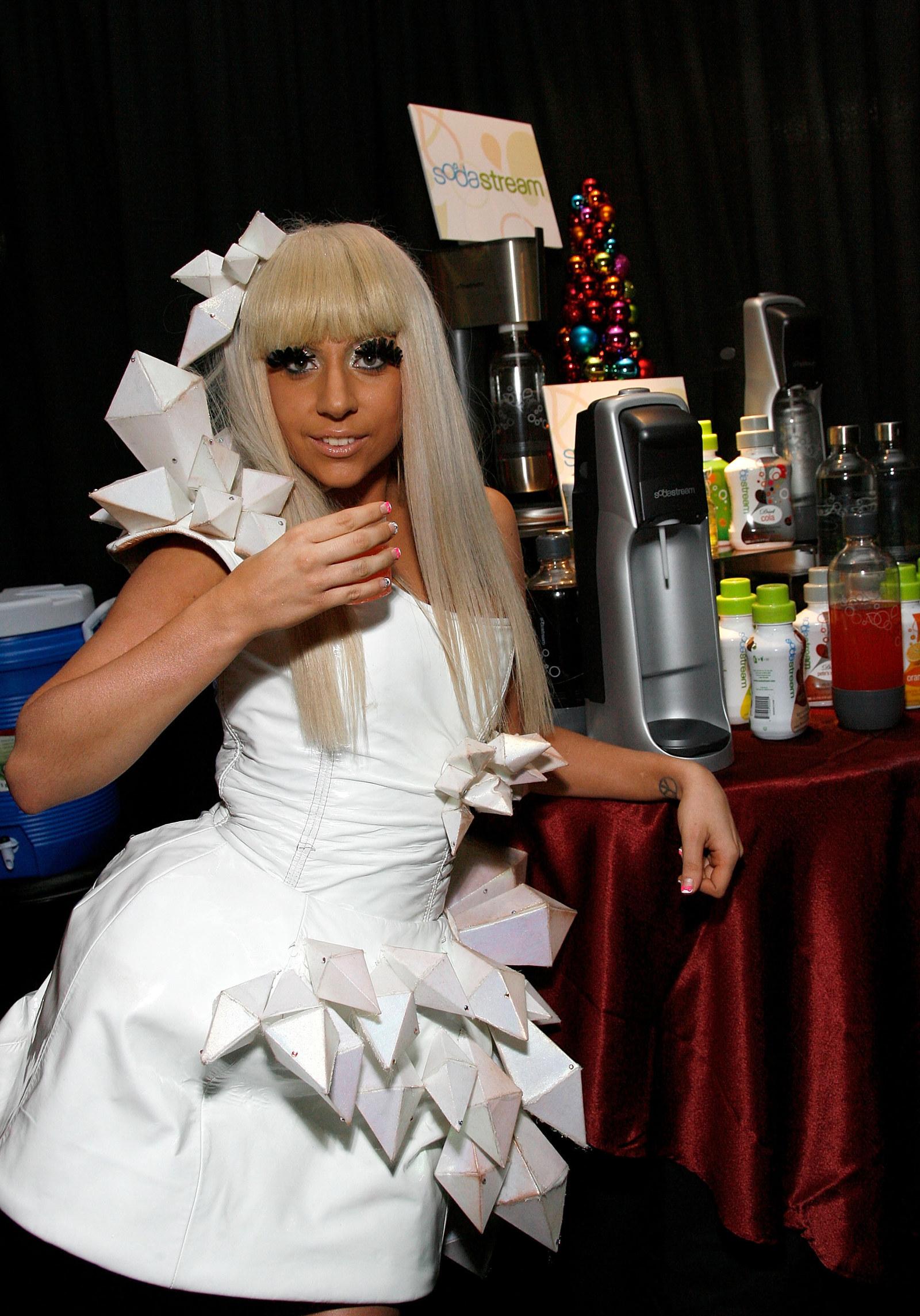 Lady Gaga and a Sodastream.