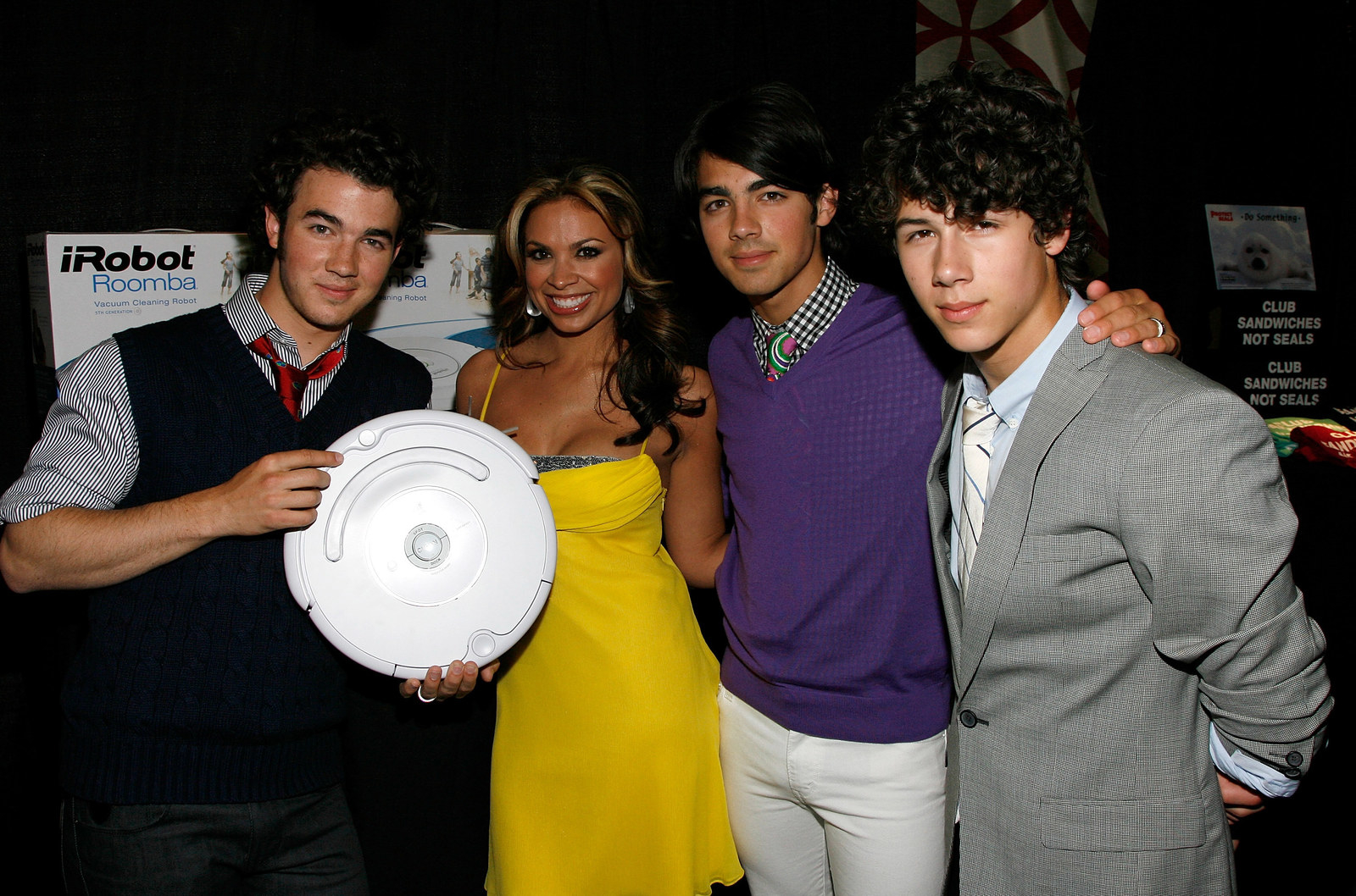 The Jonas Brothers and a Roomba.