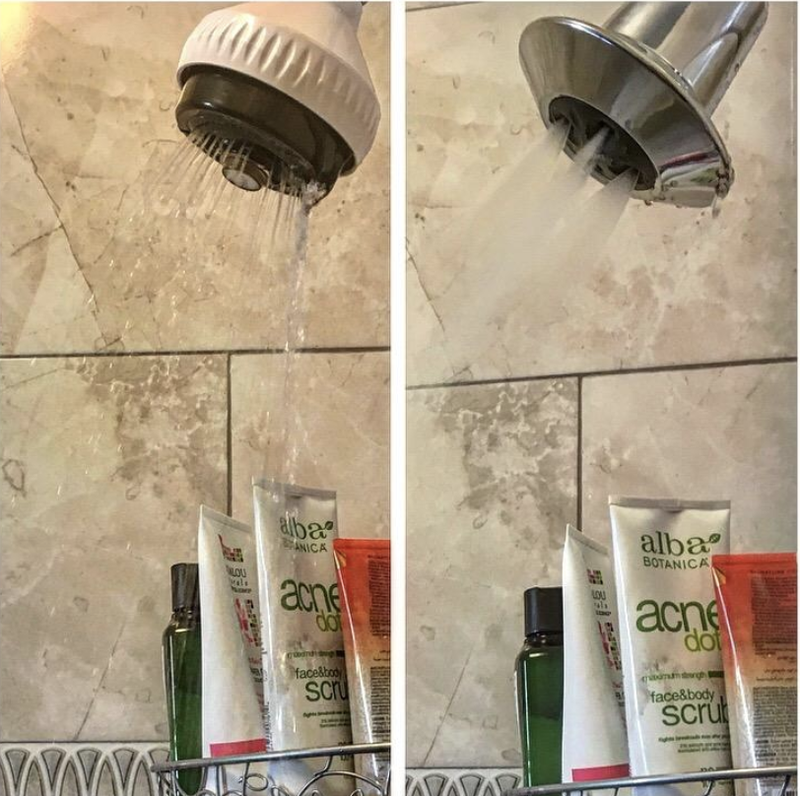 """With a more forceful stream, you'll get better warmth and coverage. But no worries, this shower head can reduce your water use up to 20%! Promising review: """"""""This shower head has CHANGED MY LIFE. The water pressure in my prewar building is quite low and my previous shower head gave me a narrow stream of trickle that I would have to rotate my body under in order to get entirely wet. The water temperature would also vacillate widely between freezing cold and burning hot, so I was often doing a little dance to get out of its narrow stream in time to not get frozen or burned. Well, the change was immediate and phenomenal. Suddenly, I have a shower with terrific water pressure and a wide spray that is a joy to experience every morning. And although it didn't advertise this feature, the shower head has also somehow managed to even out the former temperature swings. If you are on the fence about trying this, DO IT! You will love it!"""" —Andy MonroeGet it from Amazon for $21.99+ (available as a pack of three). Also, check out our review of the Delta 2-Spray Shower Head here."""