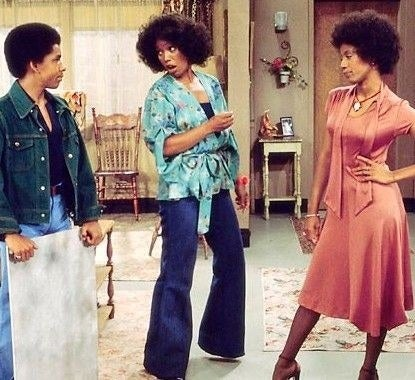 Good Times wasn't just a sitcom that kept me laughing as a kid, but it also kept me stylishly-inspired. The show, which aired in the '70s, gave us true fashion: wide-leg bottoms, flared blouses, and a whole lot of color. Geez, I miss it.