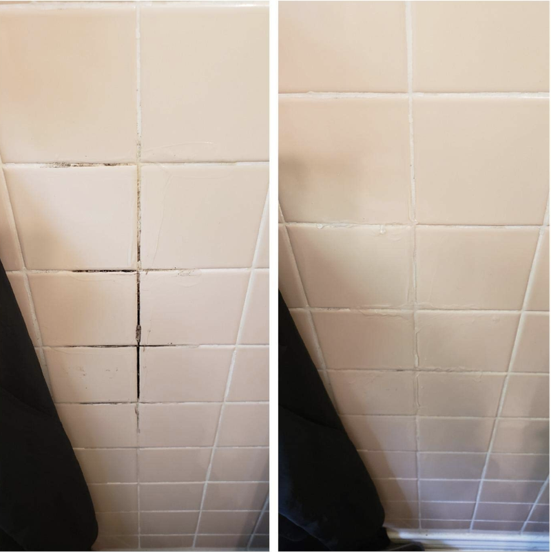 """If minimal effort is your thing, than this gel is for you! Just apply, let sit, and wipe!Promising review: """"I am almost in tears writing this review right now. For almost two years I've been dealing with mold and mildew in my bathroom. It's covering the walls, the caulk in the bathtub, and the baseboards. I've spent so much money on bleach sprays and mold killers that didn't work. I almost gave up and moved out. I bought this as a last resort and I can't believe how well it's working!!! My tub is nearly spotless and the walls are coming clean as well. I am so grateful to this brand and product."""" —Jessica NGet it from Amazon for $12.99."""