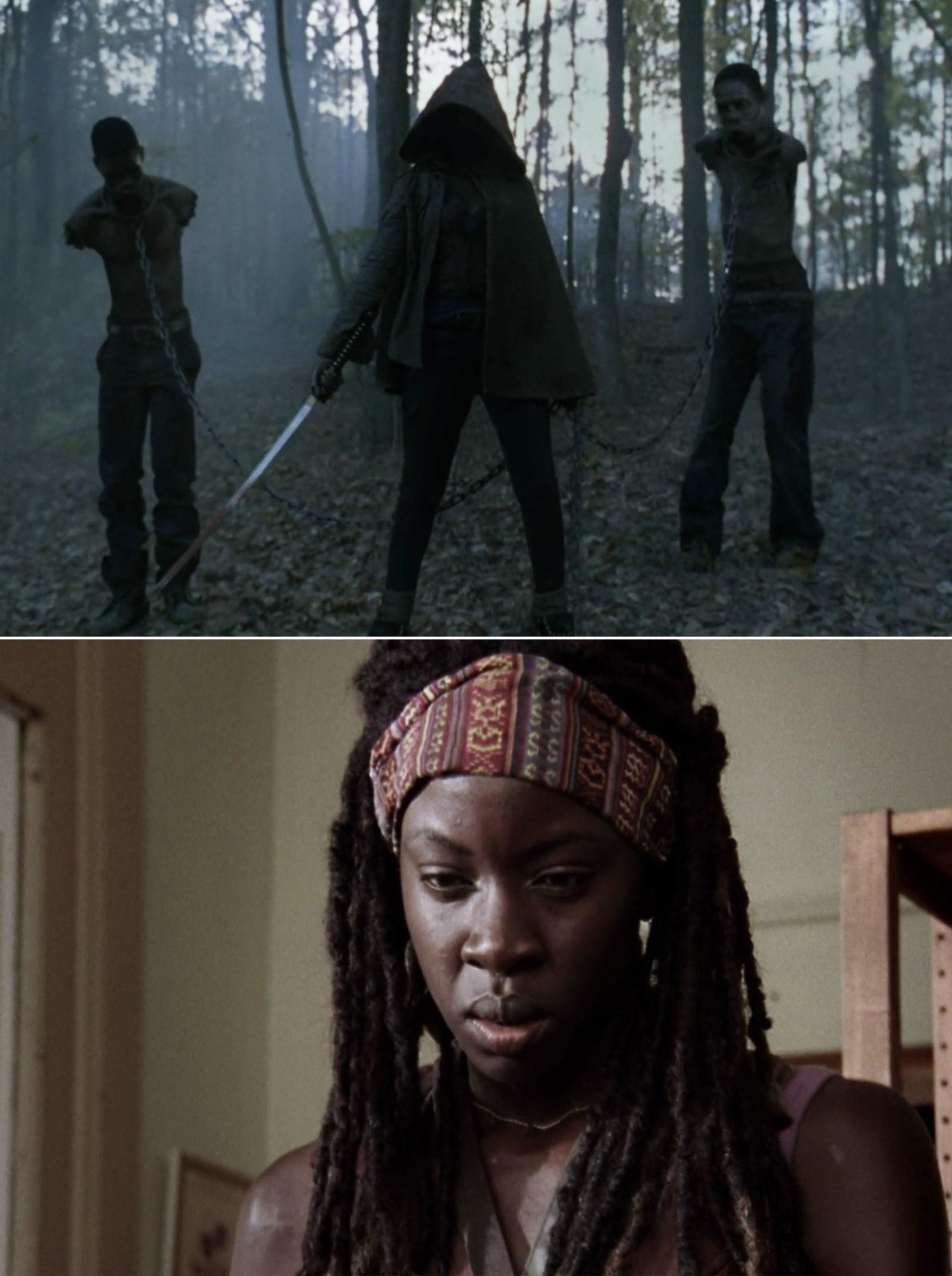 "Michonne from  The Walking Dead  -  ""The minute she stepped out of the fog and killed a walker with her katana in Season 2, I was sold. But then, when we actually see her in Season 3, she only proved to be more badass.""  —Angelina Barrios, Facebook"