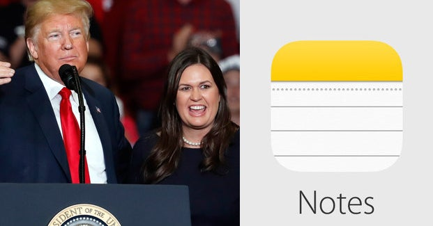 The White House Announced A National Emergency Using The Notes App