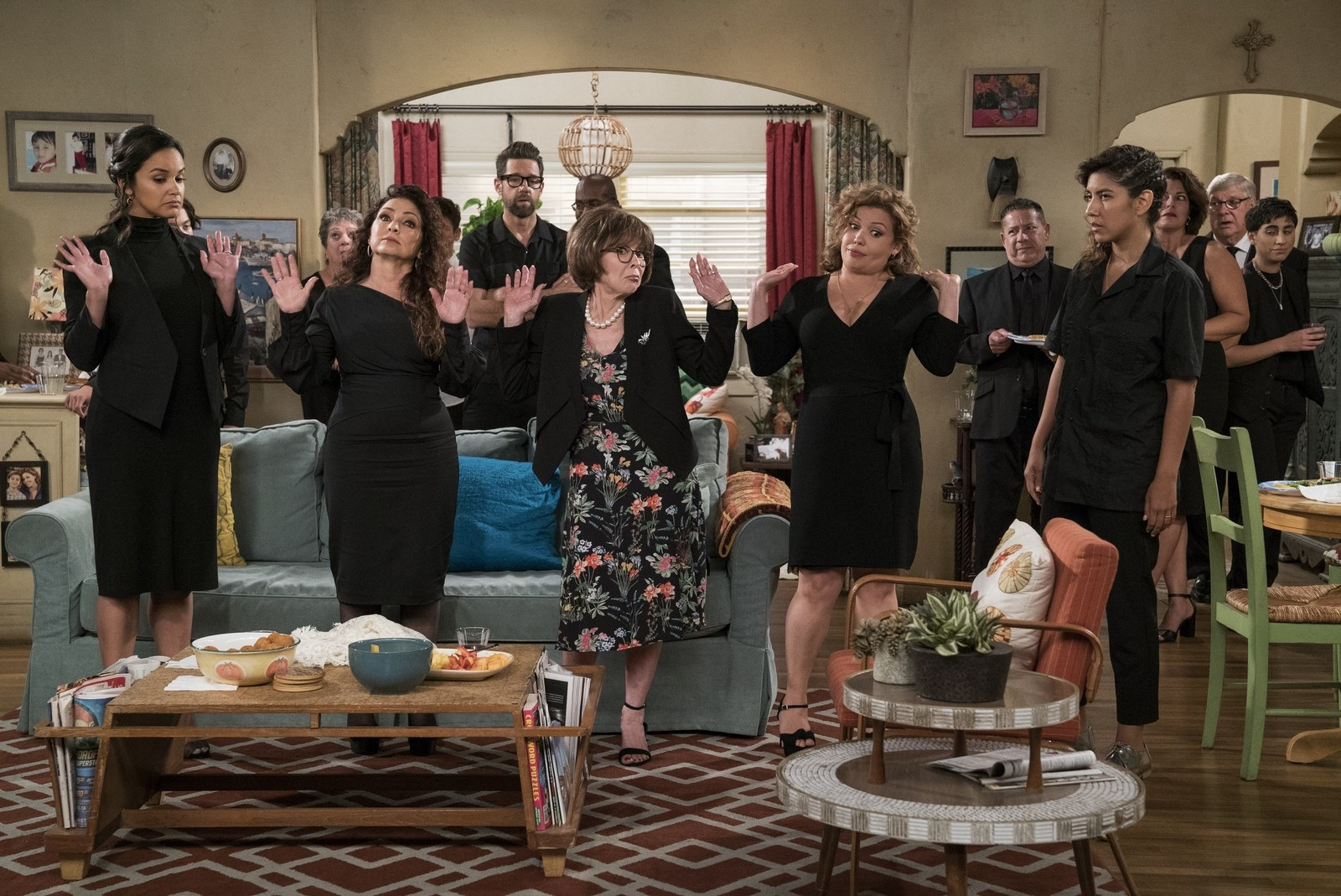 Also, on  One Day at a Time , Brooklyn Nine-Nine  stars Stephanie Beatriz and Melissa Fumero , and the legendary Gloria Estefan swung by to play Pilar, Estrellita, and Mirtha respectively.