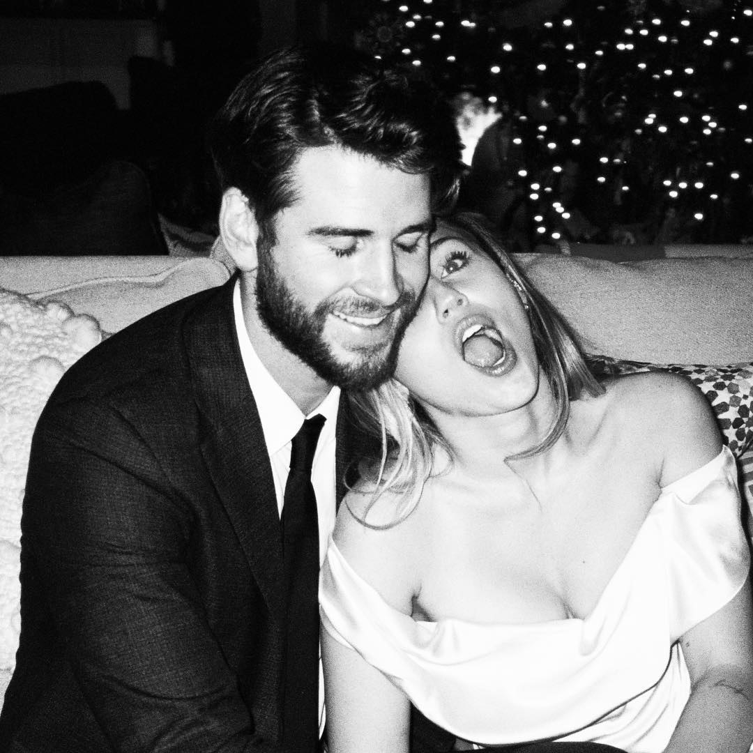 Miley Cyrus shared more sweet moments from her  wedding day  with Liam Hemsworth.