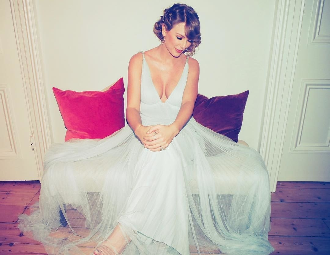 Taylor Swift looked flawless in this Stella McCartney dress.