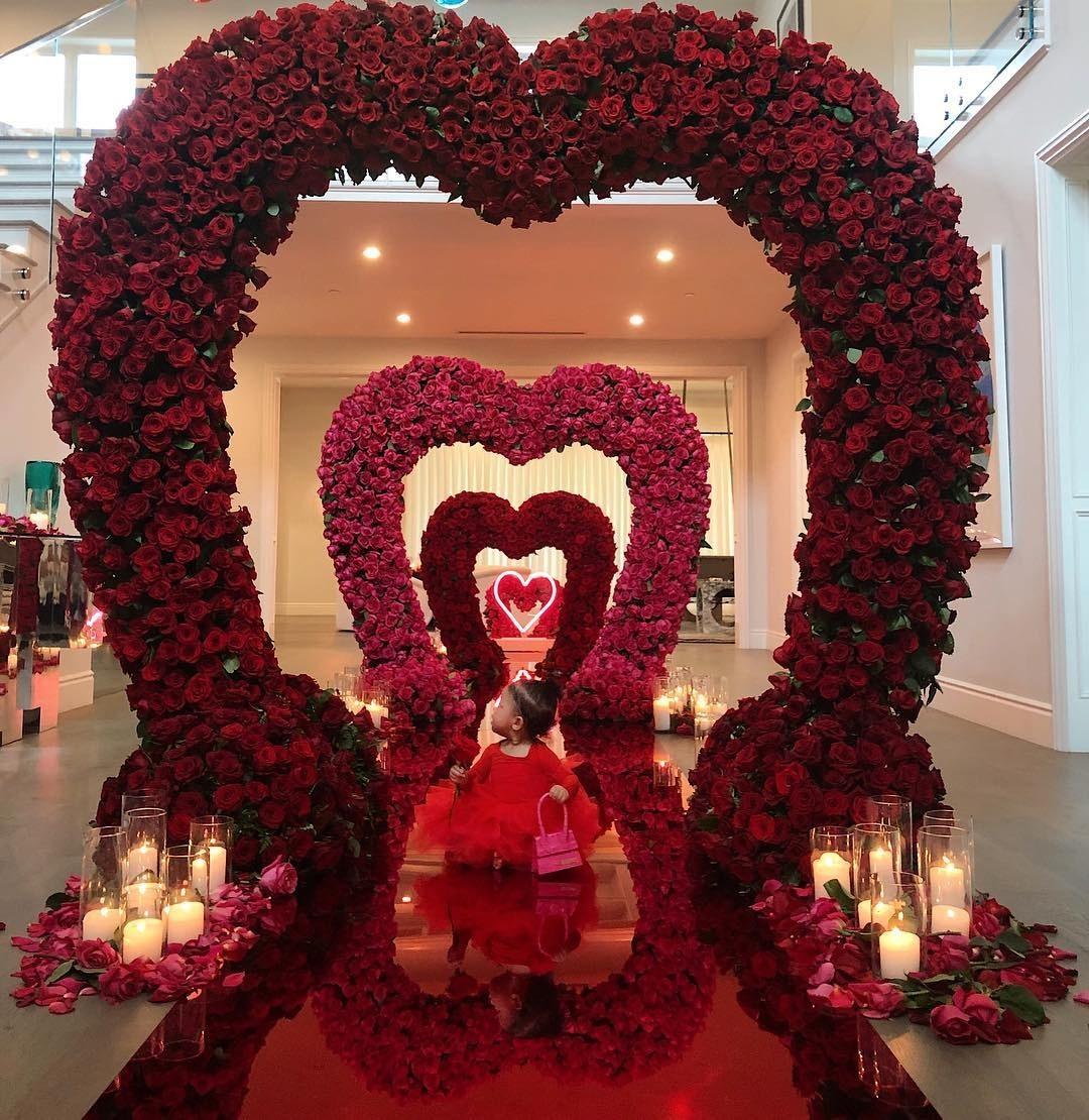 Kylie Jenner and Stormi walked into a Valentine's Day wonderland thanks to Travis Scott.