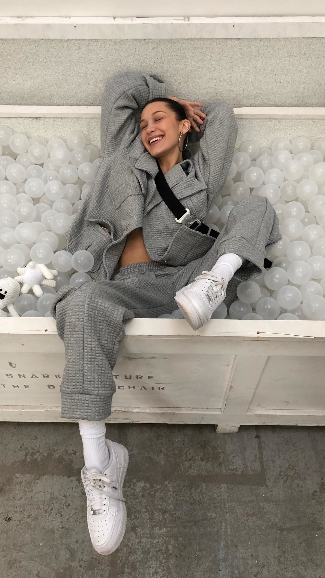 The Weeknd put a smile on Bella Hadid's face.