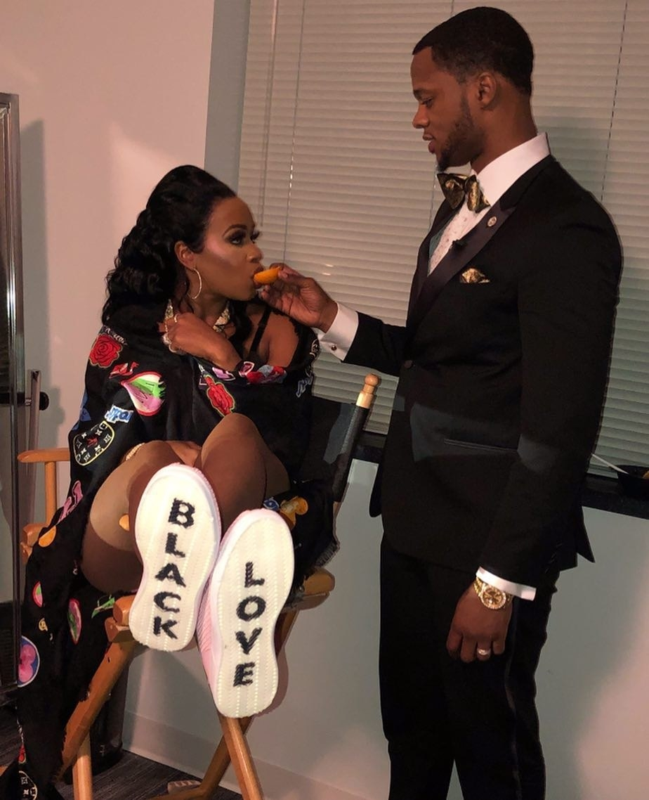 Remy Ma and Papoose exuded black love from head to toe.