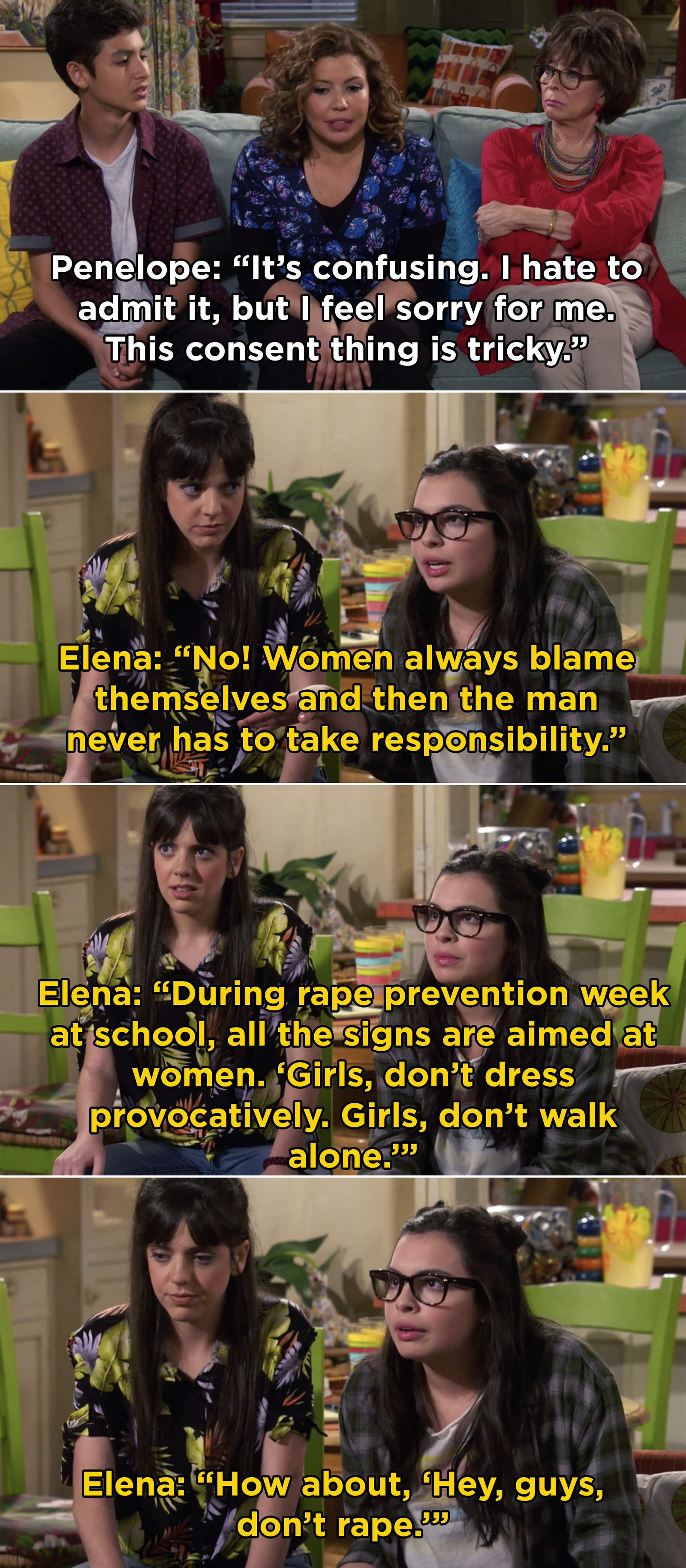 One Day at a Time  Season 3 premiered on Netflix and continued to give us  some honest and real moments , like this one.