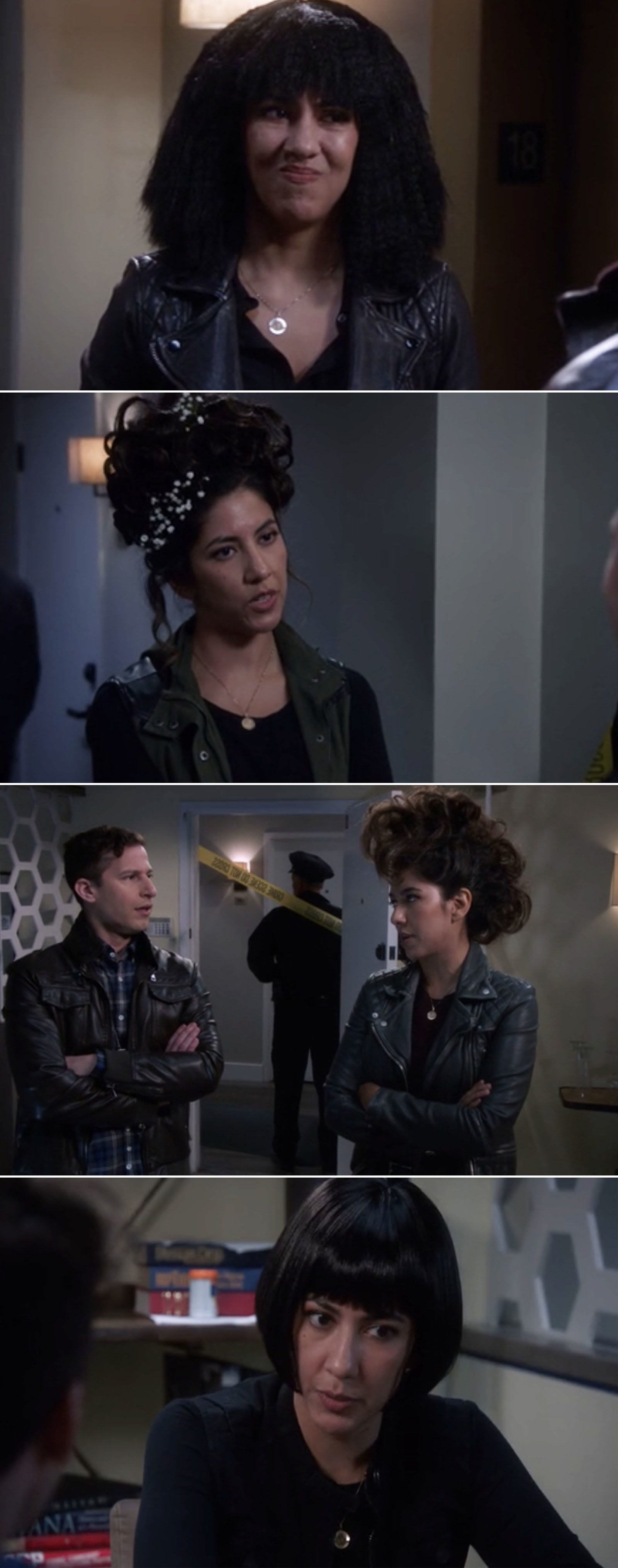 Also, we just need to take a moment to appreciate all of Rosa's hairstyles this episode. True love is letting your girlfriend style your hair over and over again.