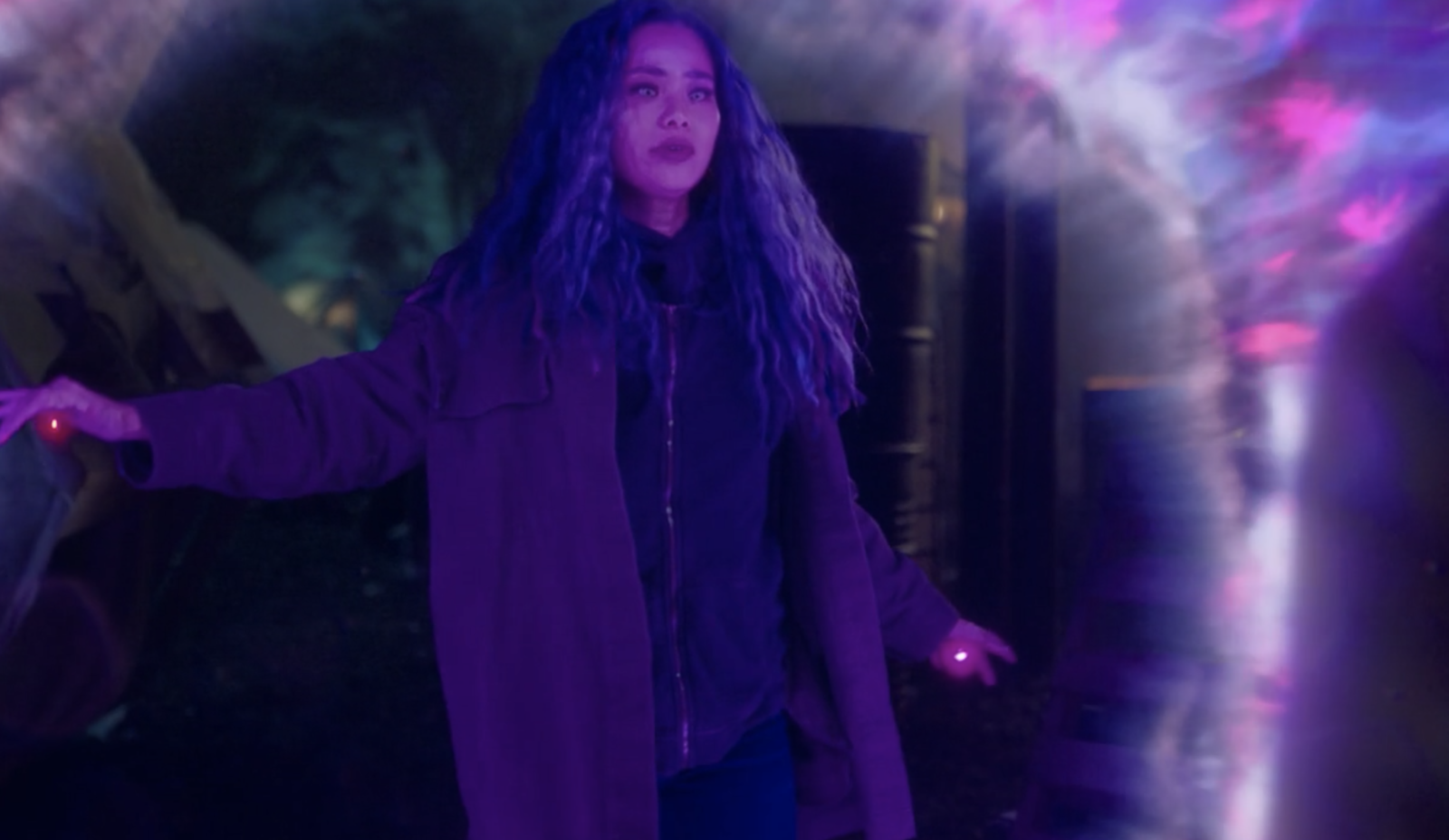 On  The Gifted , while fighting the Purifiers, Blink was shot right in front of John while opening a portal in order to save the others. -  However this doesn't seem to be the end of Blink's story.