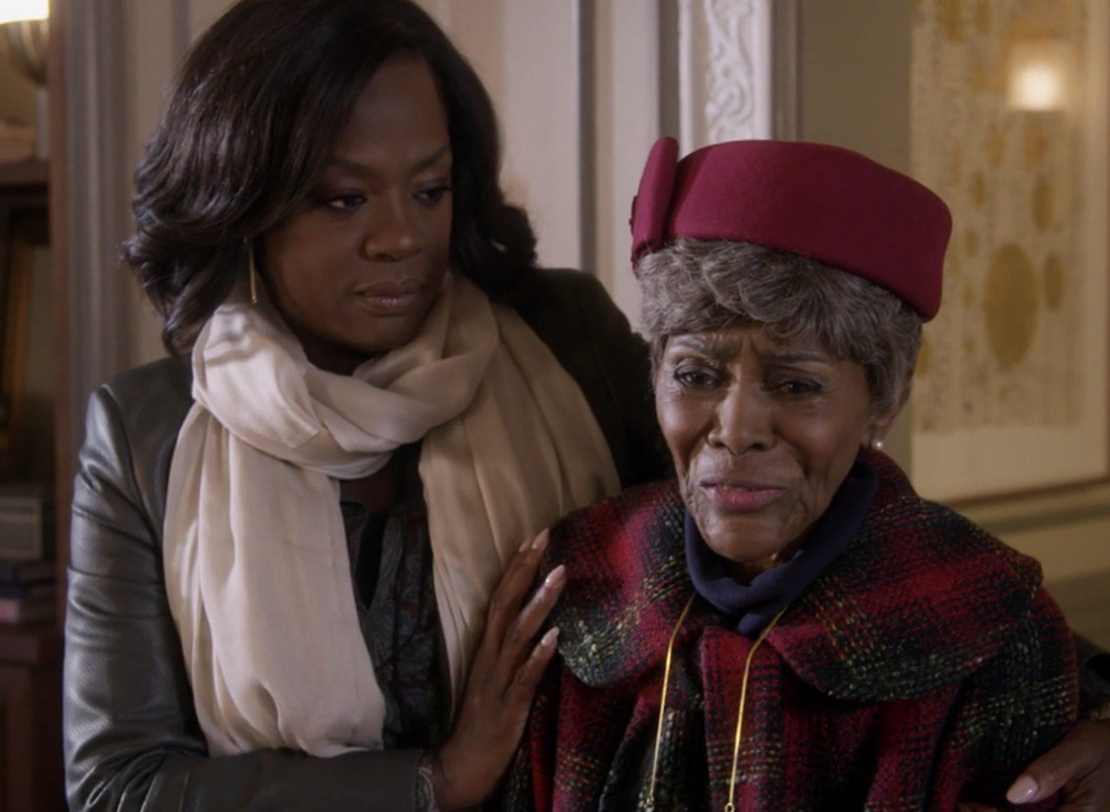 Cicely Tyson returned as Annalise's mother on  How to Get Away With Murder  and repeatedly suggested that Annalise and Nate get married so they wouldn't have to testify against each other.