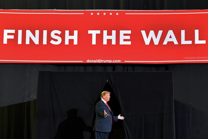 President Donald Trump arrives for a rally in El Paso, Texas, on Feb. 11.