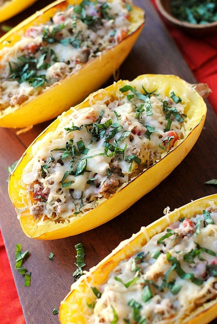 With eight net carbohydrates a cup, spaghetti squash fits into a keto diet in moderation. So squash those cravings! Recipe here.