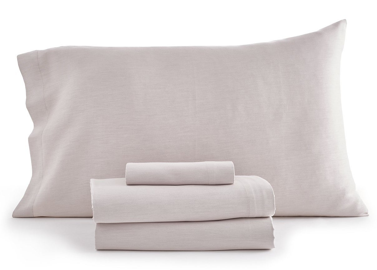 The set includes a flat sheet, a fitted sheet, and one or two pillowcases depending on bed size.Get them from BuzzFeed's Goodful line, exclusively at Macy's for $65+ (available in five sizes and in two colors).