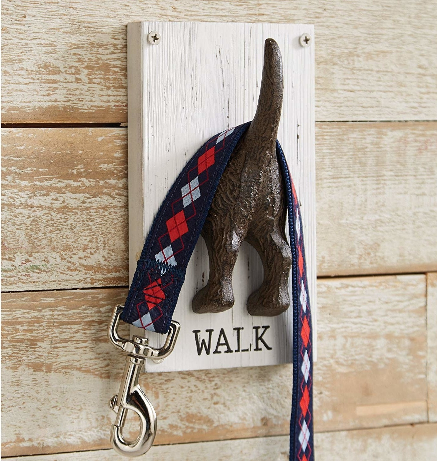 "Are you someone who is always losing your keys? Well, don't let your dog's leash fall into that same category! Keep it within arm's reach by installing this adorable hook into your home.Promising review: ""This dog leash hanger is silly, cute, and rustic in a way that goes perfectly with my house. The hook is surprisingly very sturdy and I use it to hold at least three leashes at a time. Would definitely buy again!"" —Alyssa BernblumGet it from Amazon for $13+ (available in three styles)."