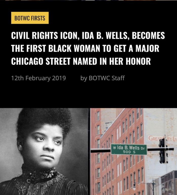She's the first black female historical figure getting this honor in Chicago. What an amazing way to remember such a legend!