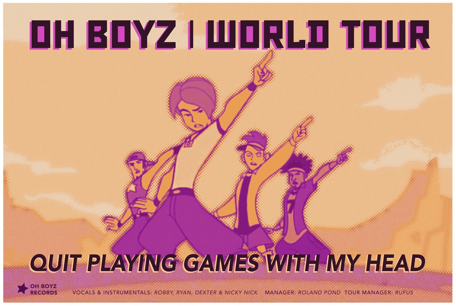 Kim was also obsessed with a boy band called the OH BOYZ.