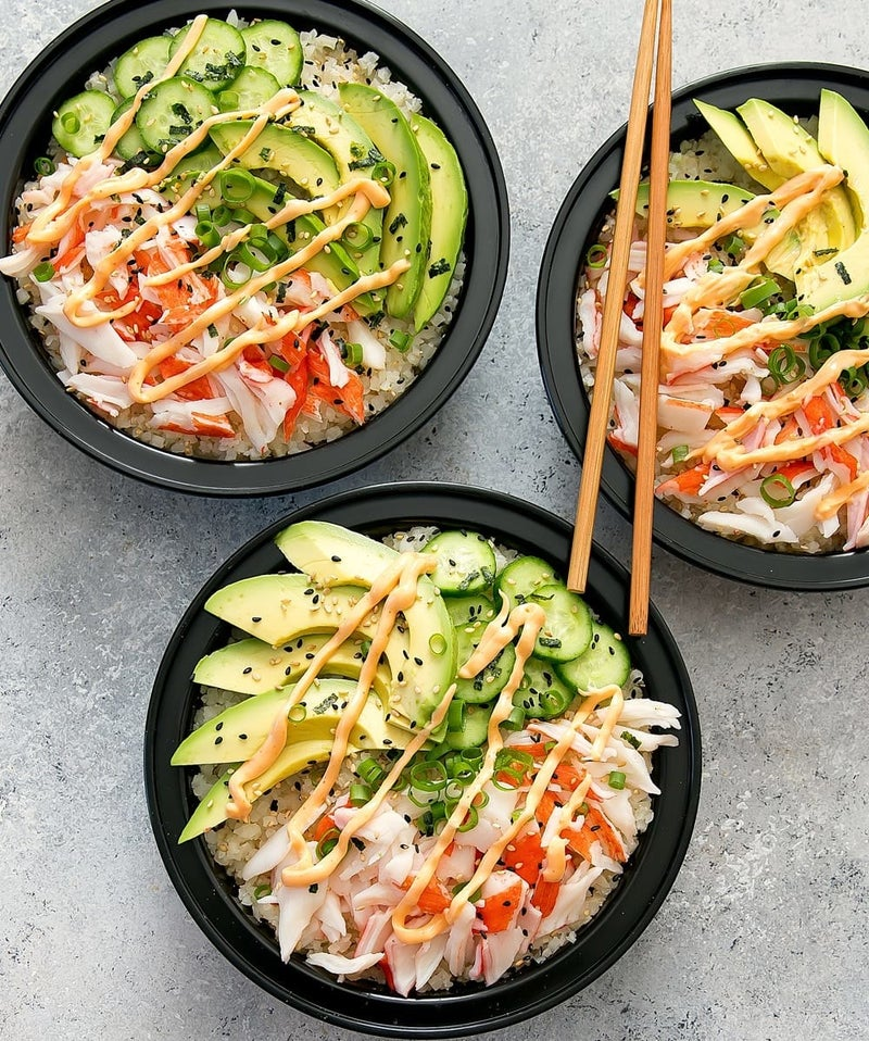 Go back to Cali, Cali, Cali with this sushi-inspired bowl. Recipe here.